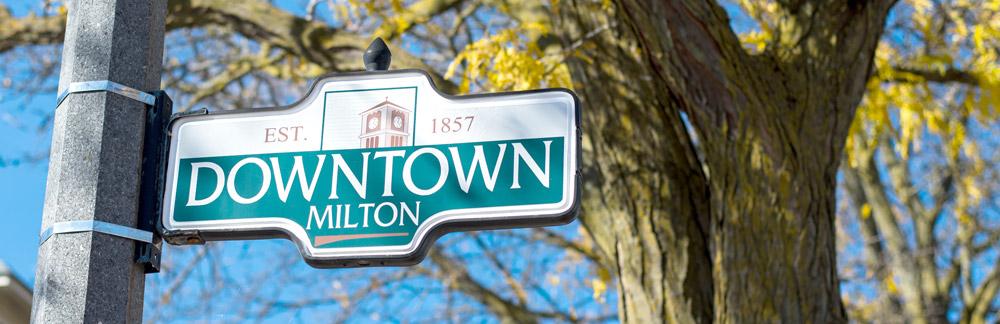 Downtown Milton Sign
